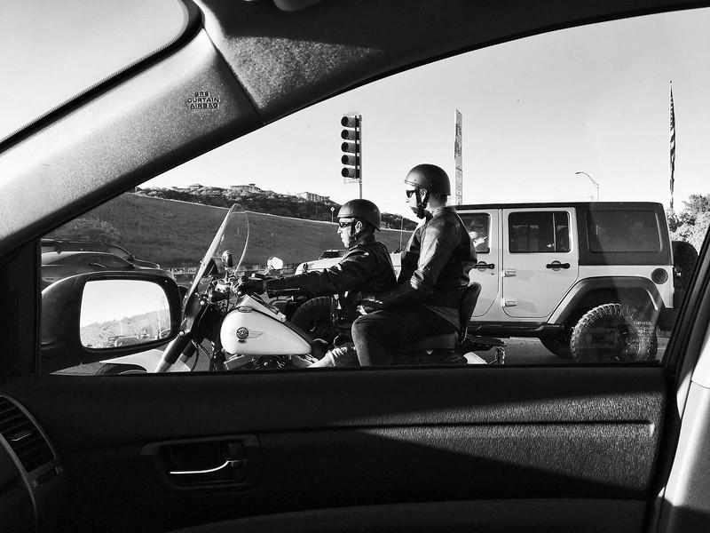 Biker Couple Framed - Austin, Texas