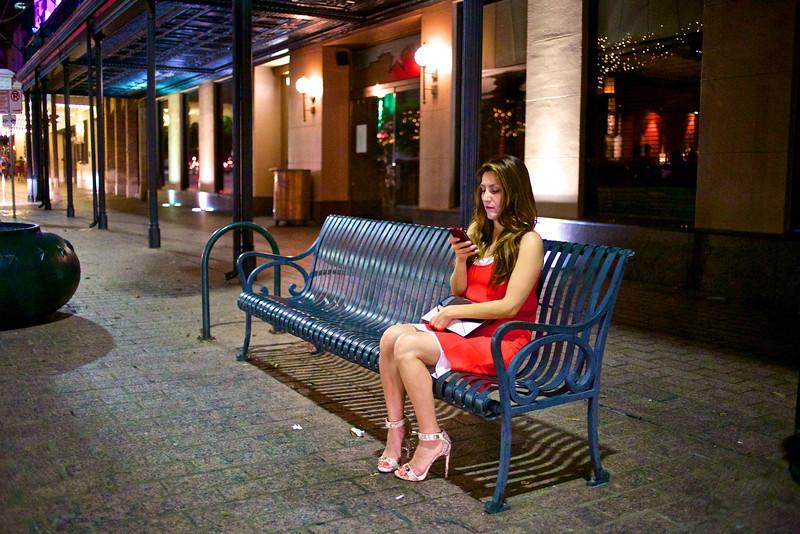 Women in Red, Congress Avenue - Austin, Texas