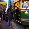 Getting off the Tram, Market Street - San Francisco, California
