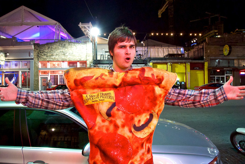 Pizza Guy, 6th Street - Austin, Texas