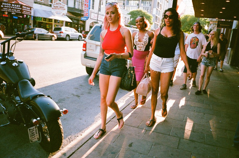 6th Street Visitors with film - Austin, Texas
