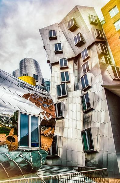 Stata Center Building - MIT Campus (lens flare)