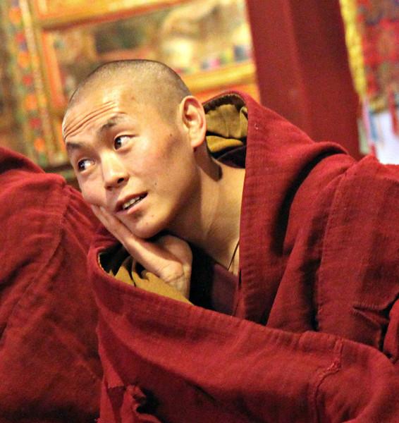 Contemplative monk, Tibet