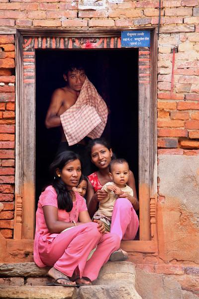Nepalese Family, Baktapur