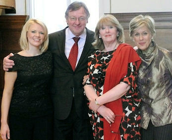 "BBC Radio 2 ""Kiri Prize""  Robin Stapleton, Anne Howells and Dame Kiri Te Kanawa. BBC Radio 2 ""Friday Night is Music Night"""