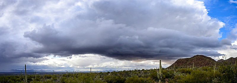 Storm clouds, west of Tucson Mountains 1