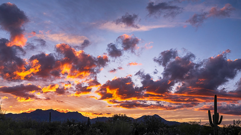 Sunset over Tucson Mountains 2