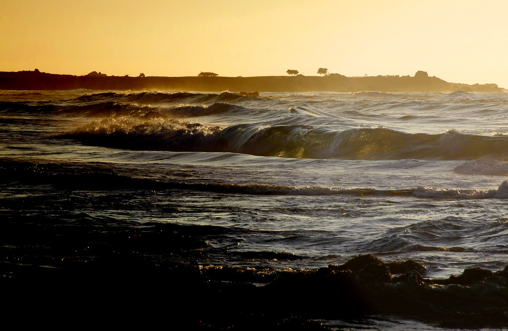 Waves crashing in the ocean in Pacific Grove California - © Simpson Brothers Photography
