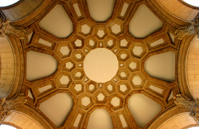 The ceiling at the Palace of Fine Arts - © Simpson Brothers Photography