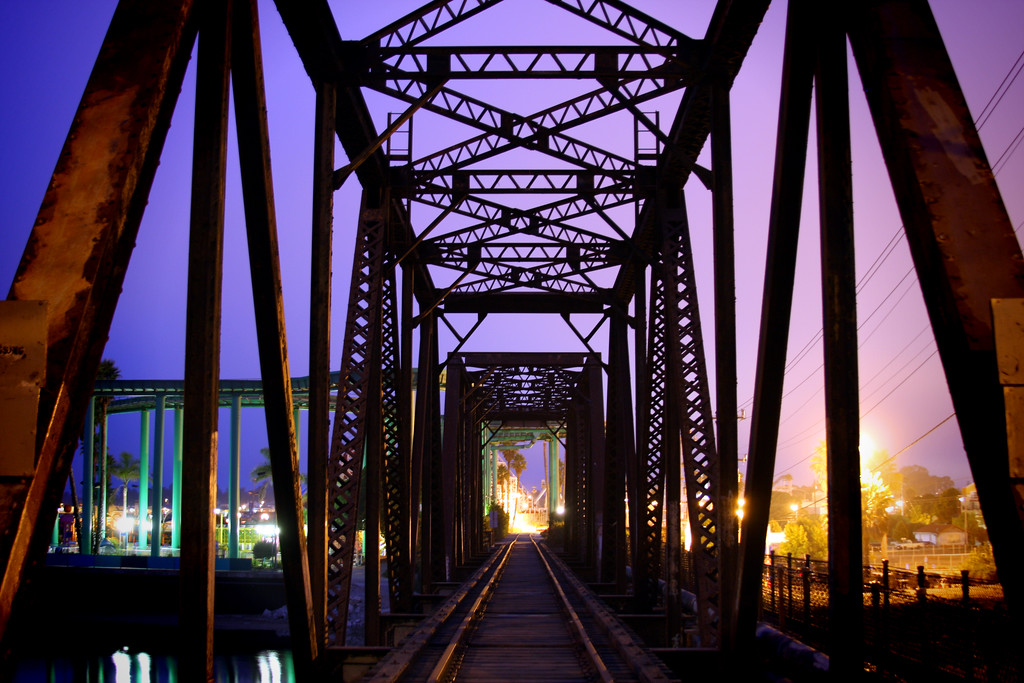 Train tressel over the San Lorenzo River in Santa Cruz California - © Simpson Brothers Photography