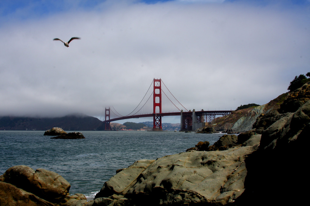 Golden Gate Bridge from the east end of Presidio Beach - © Simpson Brothers Photography