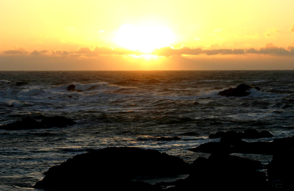 Sunset over the rocks in Fort Bragg California - © Simpson Brothers Photography