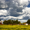 Storm clouds over an old farm in Tracy California - © Simpson Brothers Photography