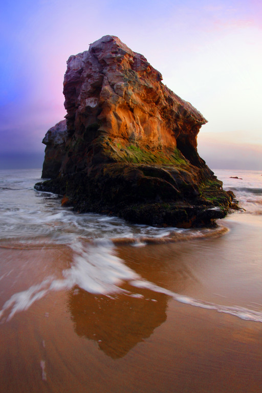 This rock used to be part of a natural bridge formation at Natural Bridges State Beach in Santa Cruz California - © Simpson Brothers Photography