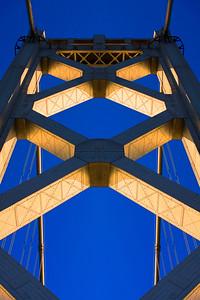 San Francisco - Oakland Bay Bridge on a clear sunny day