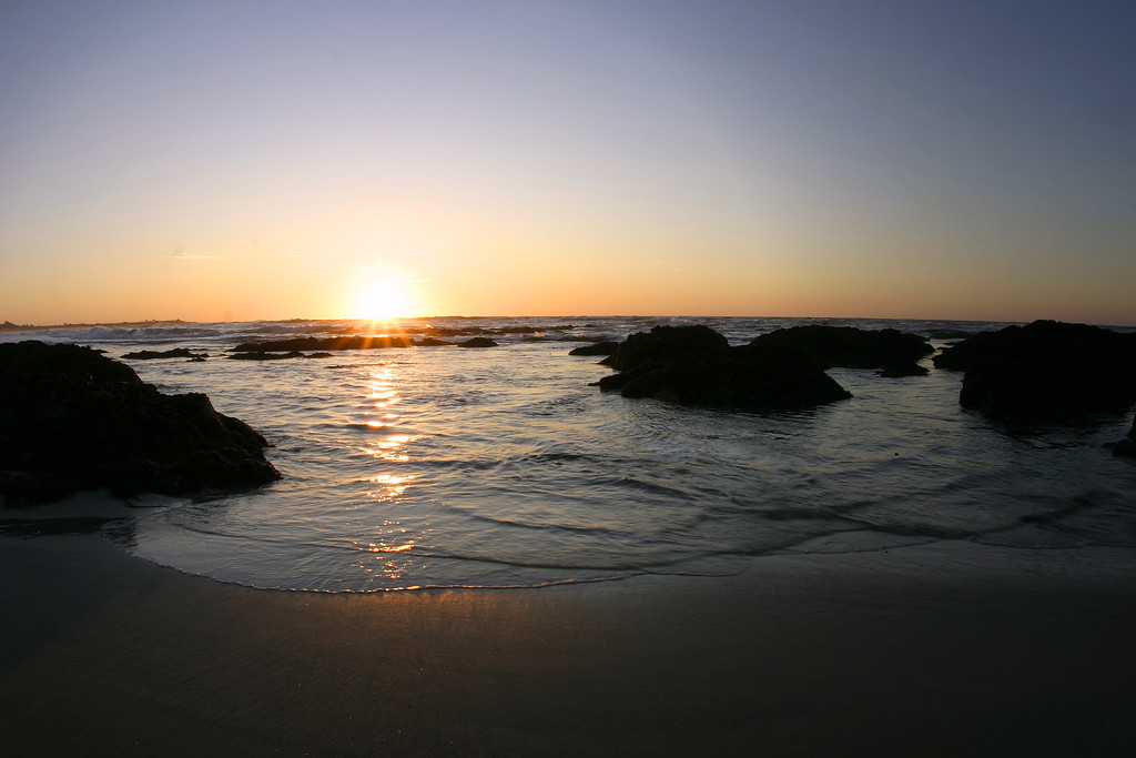 Sunset on the beach in Pacific Grove California - © Simpson Brothers Photography