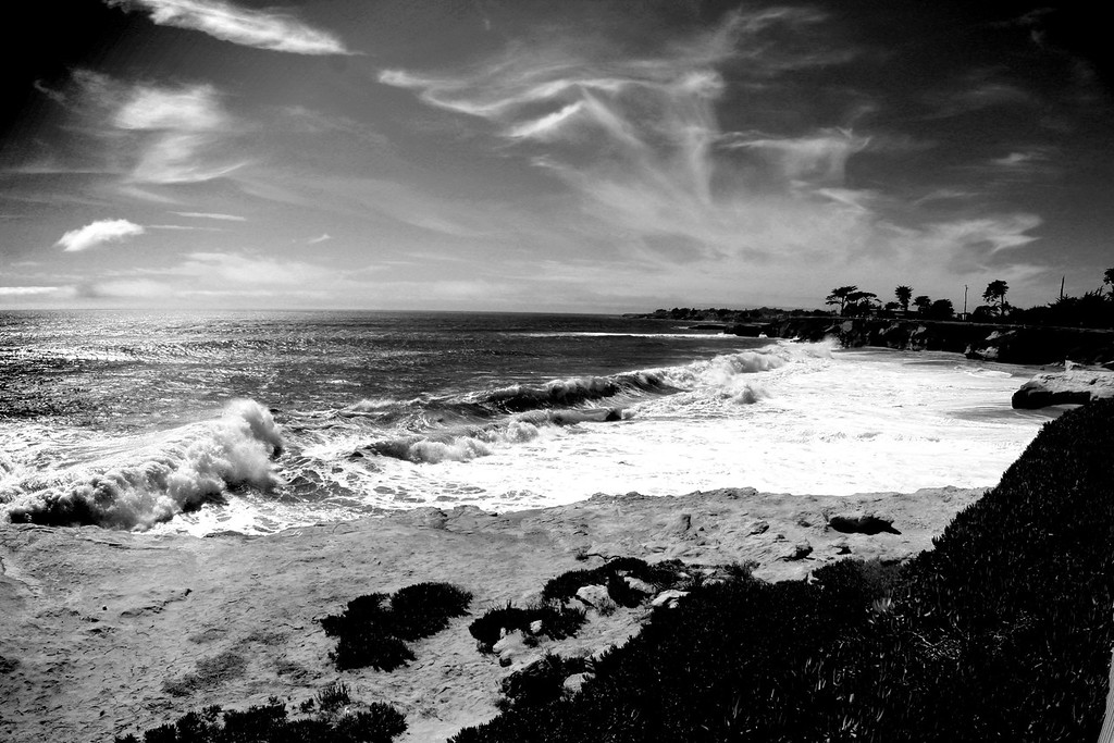 "Cloudy sky over ""It's"" beach in Santa Cruz California - © Simpson Brothers Photography"