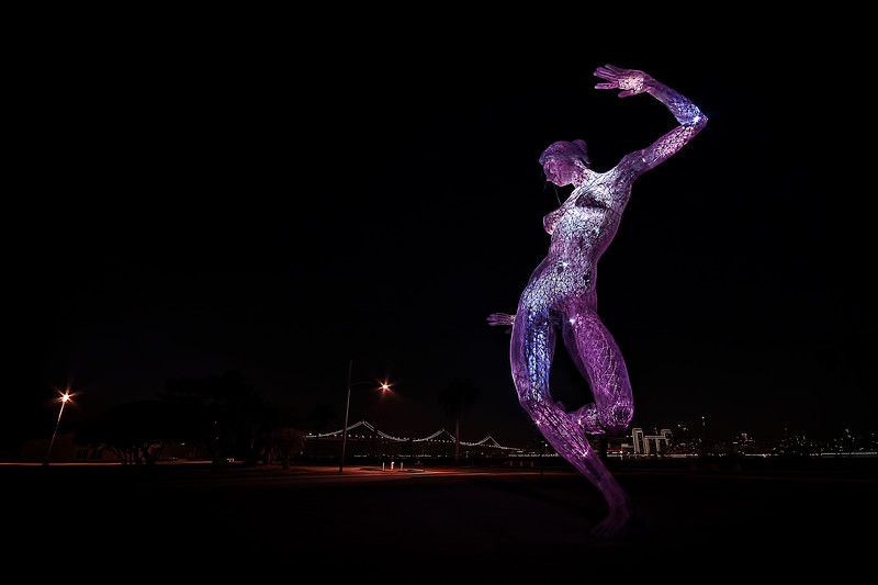 """Bliss Dance"" a 40 foot tall sculpture created by artist Marco Cochrane, used in Burning Man 2010, now relocated to Treasure Island near San Francisco - © Simpson Brothers Photography"
