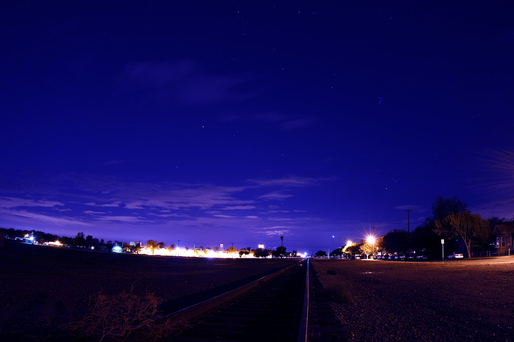 Night time on the tracks in Tracy California - © Simpson Brothers Photography