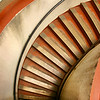 Spiral stairs leading down from the top of Coit Tower in San Francisco California - © Simpson Brothers Photography