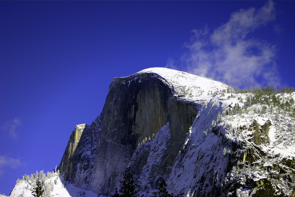 Snow Covered Half Dome in Yosemite National Park, California - © Simpson Brothers Photography