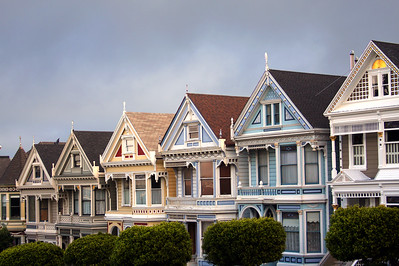 """The """"Painted Ladies"""" on Steiner Street in San Francisco - © Simpson Brothers Photography"""