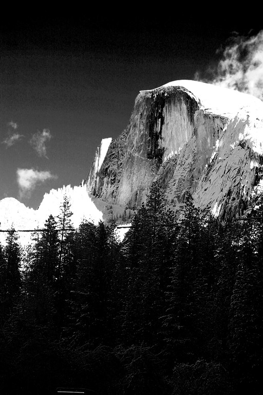 Half Dome covered in snow in Yosemite National Park, California - © Simpson Brothers Photography