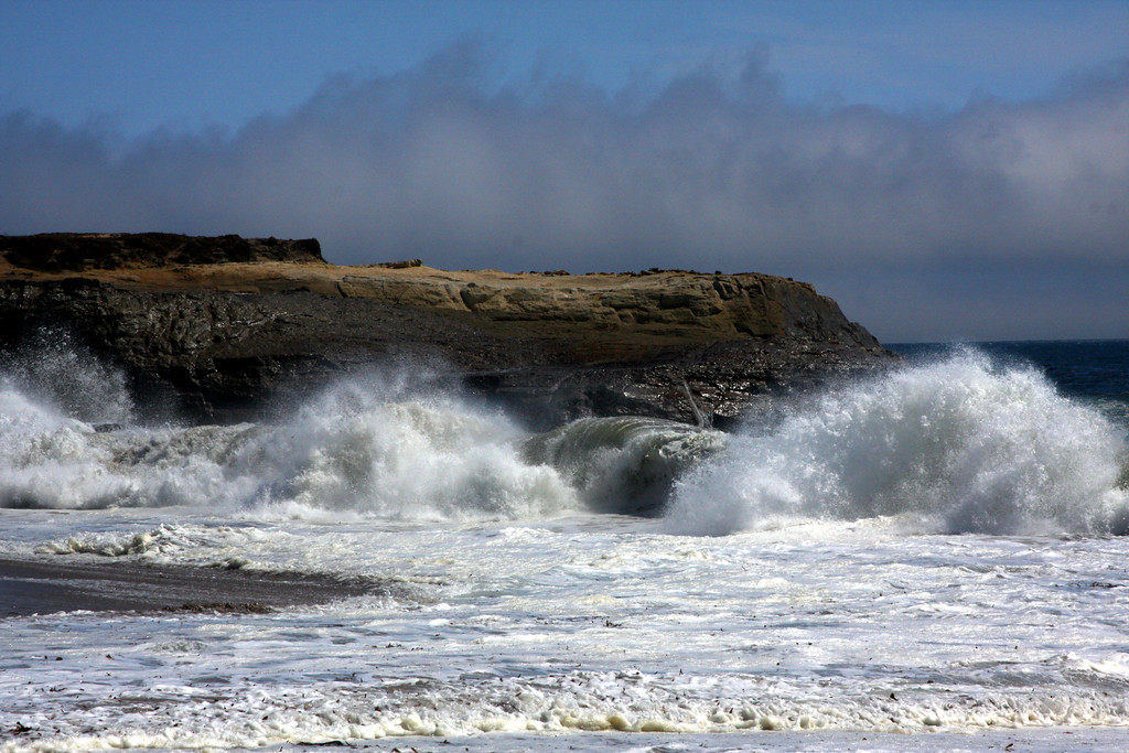 "Storm waves crashing at ""it's"" beach in Santa Cruz California - © Simpson Brothers Photography"