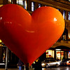 Hearts in San Francisco began in 2004 as a fund raiser for the San Francisco General Hospital Foundation. Like the famous painted cows, the painted hearts -- created from uniform molds and painted by individual artists -- decorate the city in areas like Union Square, until they are auctioned off at a benefit for the charity. New hearts are unveiled each year. - © Simpson Brothers Photography