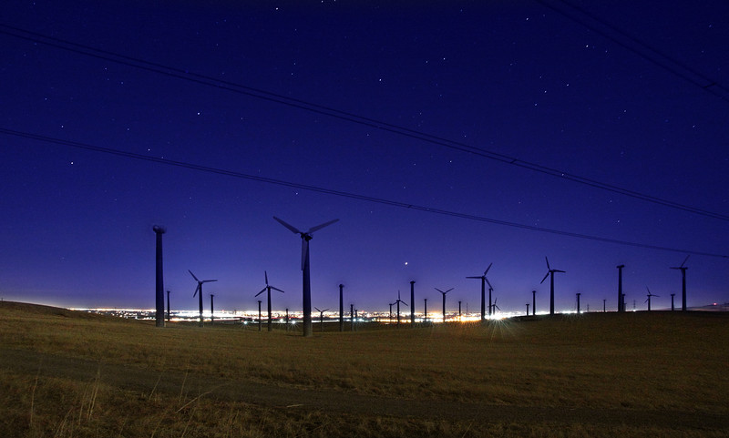 Windfarm in Tracy - © Simpson Brothers Photography