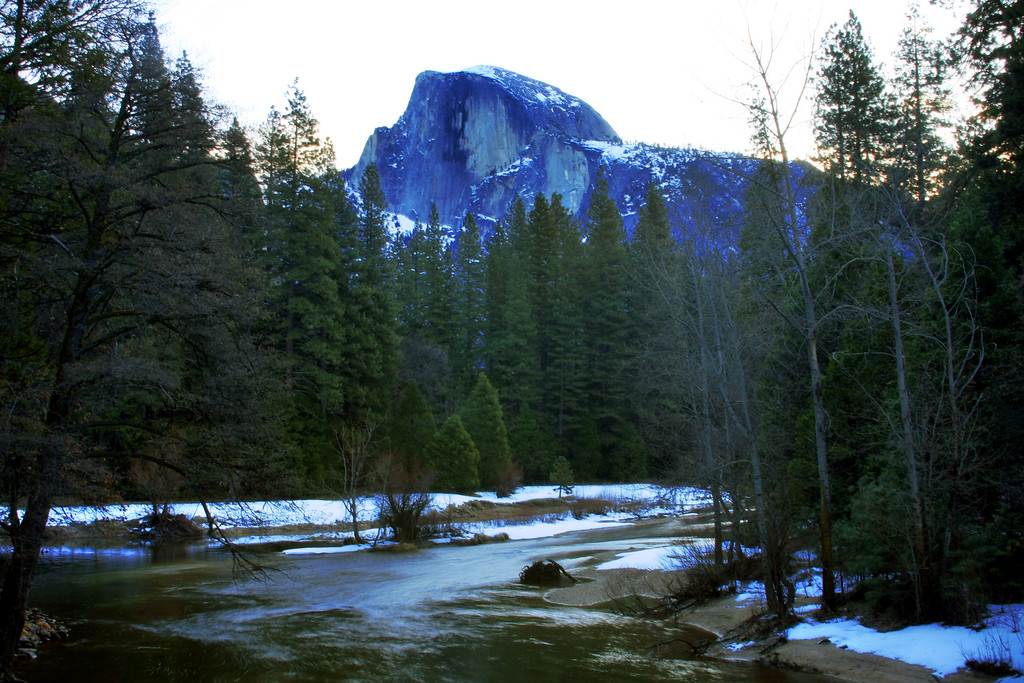 A view of Half Dome past the Merced River in Yosemite National Park California - © Simpson Brothers Photography