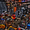 Mechanics Garage<br /> This is the garage of a hotrod builder in Soulsbyville, California<br /> (this is a photograph, not a painting) - © Simpson Brothers Photography