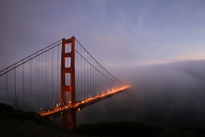 Taken during sunset from the north-west side of the Golden Gate Bridge - © Simpson Brothers Photography