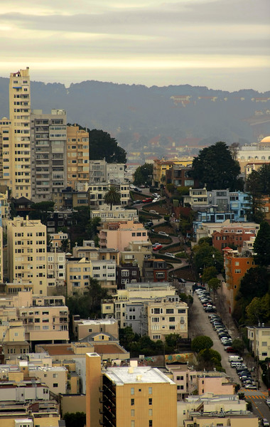 A view of Lombard Street from Coit Tower in San Francisco California - © Simpson Brothers Photography