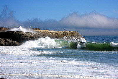 "Lighthouse Point from ""It's"" beach in Santa Cruz California - © Simpson Brothers Photography"