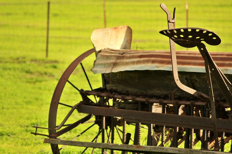 Old farm equipment in Tracy California - © Simpson Brothers Photography
