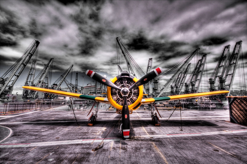 Propeller Plane on the deck of the USS Hornet - © Simpson Brothers Photography