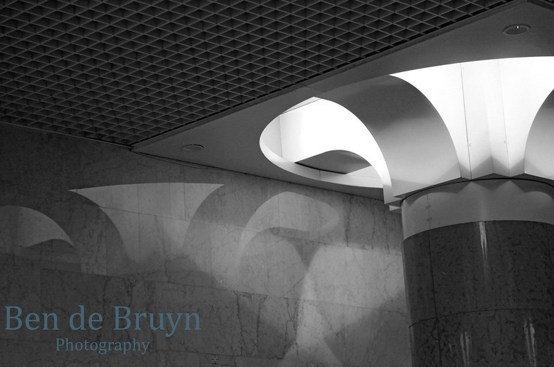 Art deco lights in Moscow Park Pobedy metro station or Victory Park metro station