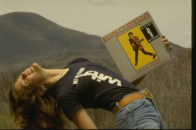 1976 WITR Elvis Costello promotion photo.