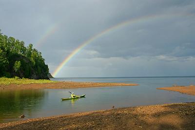Rainbow on Gooseberry River 003