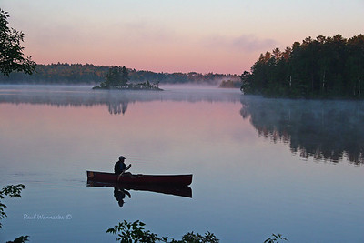 Early Morning Canoeing BWCAW