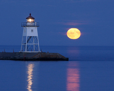 Moonrise Over Grand Marais 002