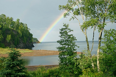 Rainbow on Gooseberry River 001