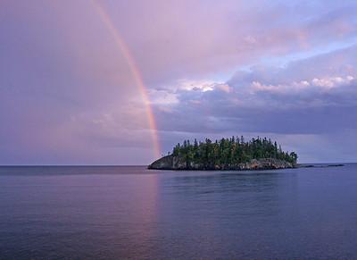 Rainbow on Split Rock Shoreline 002