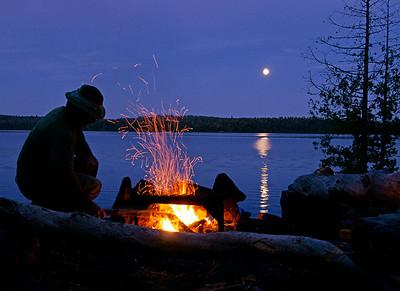 Moonrise Over Gillis Lake, BWCAW 001