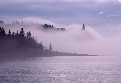 Split Rock Lighthouse in Fog 001