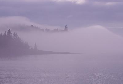 Split Rock Lighthouse in Fog 002