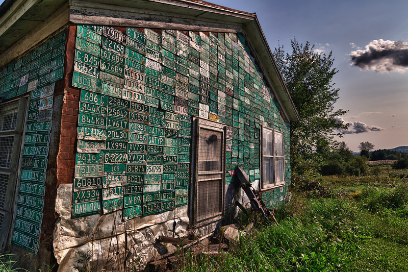 License Plate Barn - Somewhere, VT