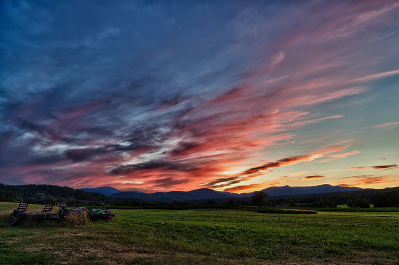 Technicolor sunset - Stowe, VT