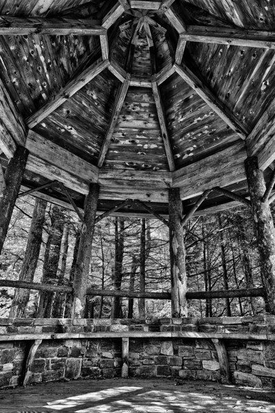 Inside the Gazebo - Stowe, VT